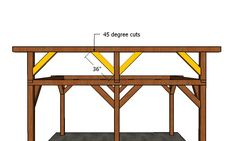 12x16 Lean to Pavilion - Free DIY Plans | HowToSpecialist - How to Build, Step by Step DIY Plans