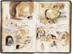 Eugène Delacroix, Album d'Afrique du Nord et d'Espagne, 19,3 x 12,7 cm, Paris, musée du Louvre (dépt Arts graphiques)