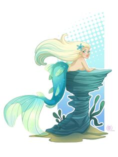Charact design : mermaid underthesea