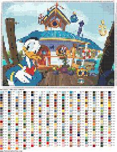 http://ponciar.blogspot.it/2016/05/schemi-disney-punto-croce-gratis-i.html donald & Daisy duck cross stitch