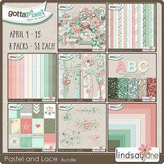 Pastel and Lace Bundle :: Gotta Grab It :: Gotta Pixel Digital Scrapbook Store by Lindsay Jane