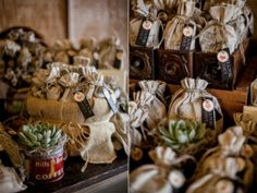 rustic coffee wedding favors