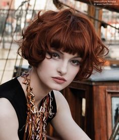 dynamic chic bob for red hair