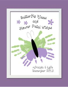Butterfly Handprint Art for 1 or 2 Sets of by CreationsbyTamiLynn