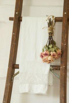 Vintage Mirror - White Lace Cottage