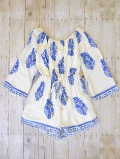 Greek Isle Romper....There is no way I would fit this, too tall, but it is sooo cute