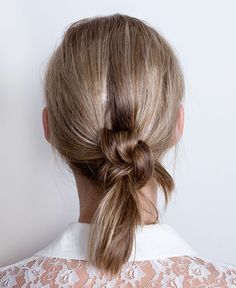 Double knot ponytail hairstyles and many videos