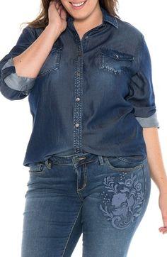 c5f84b0c3ca Plus Size Women s Slink Jeans Western Denim Shirt (affiliate)