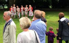 Tootsie Rollers entertain. Aynho Fete. 12-June 2016.  It was a 'Right Royal Do'!