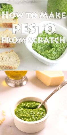 Basil Pesto Sauce, Basil Pesto Recipes, Herb Recipes, Sauce Recipes, Italian Recipes, Cooking Recipes, Healthy Recipes, Homemade Pesto Recipes, Dinner Recipes