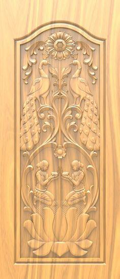 Wooden Glass Door, Wooden Front Door Design, Double Door Design, Wooden Front Doors, House Outside Design, House Front Design, My Home Design, Single Main Door Designs, Single Floor House Design