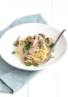spaghetti met paddenstoelen roomsaus-4 #mushroomspaghetti