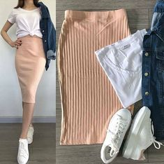 Trendy Skirt Fashion Style Shoes 49 Ideas Source by ideas fashion Modest Dresses, Modest Outfits, Skirt Outfits, Modest Fashion, Skirt Fashion, Chic Outfits, Trendy Outfits, Fashion Outfits, Fashion Ideas