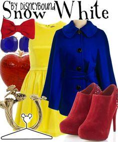 Disney fashion.   Love snow whites choice of colors,