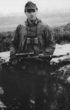 """Bruno Sutkus was a Lithuanian-German sniper in the 68th Infantry Division of the Wehrmacht (Heer) German Army, on the Eastern Front of World War II, and was credited with 209 kills Every kill was recorded in an individual """"sniper's book"""" and had to be confirmed by at least one observer and authenticated by the battalion commander."""