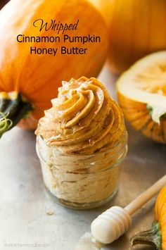 Whipped Cinnamon Pumpkin Honey Butter Recipe - The Kitchen McCabe - This Whipped Cinnamon Pumpkin Honey Butter is perfect for spreading on fresh baked rolls, toast, English muffins, bagels and is perfect for any fall event! Thanksgiving Recipes, Fall Recipes, Holiday Recipes, Fresh Pumpkin Recipes, Cinnamon Recipes, Honey Recipes, Sweet Recipes, Vegan Recipes, Flavored Butter