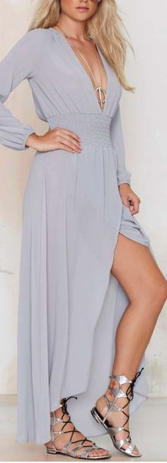 Stargazer Chiffon Maxi Dress