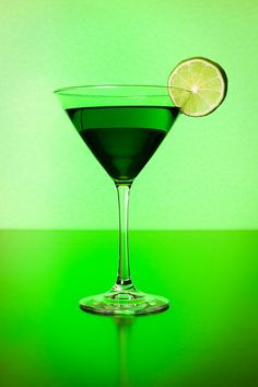 Shamrock Cocktail Strobist:One Vivitar gelled green and pointed at the background. One Nikon through white umbrella camera right. Black reflectors on each side and black wooden table. World Of Color, Color Of Life, Jorge Ramirez, Emerald Green, Blue Green, White Umbrella, Mean Green, Irish Whiskey, Happy Colors