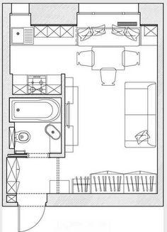 Ну и что, что тесновато, зато как мило — микроквартира площадью 23 кв. метра
