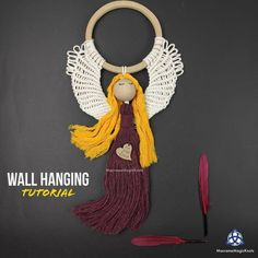 Learn how to make Easy Macrame Wall hanging decor for your home. This tutorial is adjusted for macrame beginners, and I will show you a new way of knotting w. Christmas Wall Hangings, Christmas Tree Ornaments, Magic Knot, Macrame Purse, Macrame Tutorial, Macrame Patterns, Merry Little Christmas, Micro Macrame, Knots