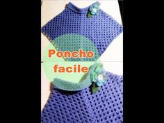 Poncho facilissimo all'uncinetto - YouTube