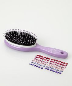 This Purple Princess No-Cry Hairbrush Set is perfect! #zulilyfinds