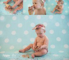 Ice cream smash First birthday Cake smash alternative