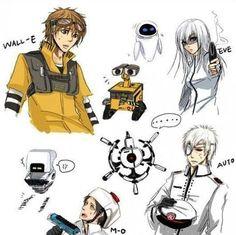 Wall-e/ Anime Crossover wonderness!!