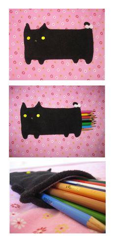 Cat Pencil Pouch by uglykat on DeviantArt