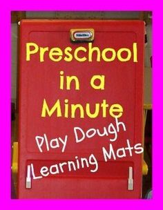 Play Dough Learning Mats by beverley
