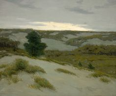 """""""The Gray Dunes, Belgium,"""" Charles Warren Eaton, oil on canvas, 30 x 36"""", private collection."""
