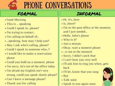 English Telephone Conversations