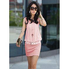 Elegante Cotton Bodycon OL Moda Vestido das mulheres - BRL R$ 38,06