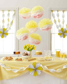 Bright and light-hearted decorations to complete your cookout, summer party, or brunch.