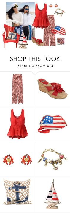 Holiday Weekend by pathbunny on Polyvore featuring Doublju, Zara, Yuu, Betsey Johnson, Les Néréides, Mud Pie, weekend, Nautical, holiday and under50