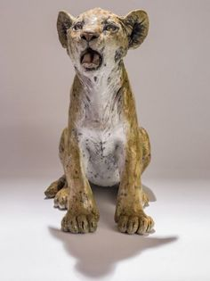 Raku Fired Animal Sculptures by