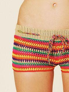 Red Crochet Shorts | shorts, | Pinterest | Crochet shorts, Crochet ...