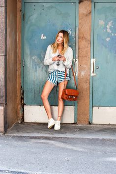The shorter the shorts… | Katie Cassidy Street Style