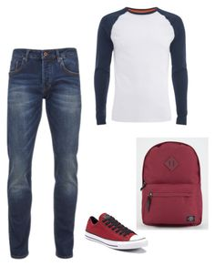 """Dylan - First Day"" by gina-freeman on Polyvore featuring Scotch & Soda, Converse, Parkland, Superdry, men's fashion and menswear"