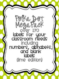 Classroom+labels+Lime+Edition+from+Miss+Nelsons+Shop+on+TeachersNotebook.com+-++(32+pages)+