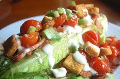grilled romaine blt salad Haute Apple Pie