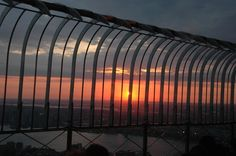 New Jersey view/sunset from Empire State Bldg