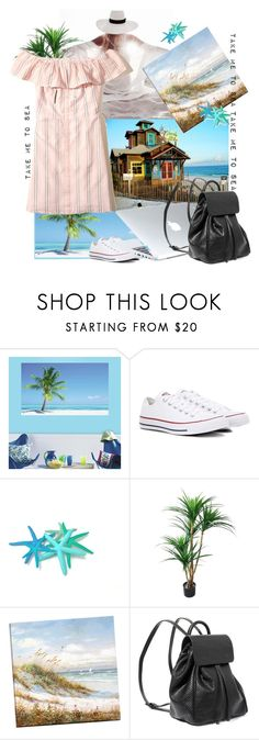 """""""Untitled #1593"""" by hannah353 ❤ liked on Polyvore featuring RoomMates Decor, Converse, Dyson, Steve Madden and Hollister Co."""