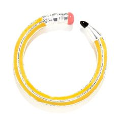 Write On Pencil Ring Yellow. totally a teacher thing! Do It Yourself Crafts, Pencil, Jewellery, Fan Girl, College Life, Cool Stuff, Nice Things, Yellow, My Style