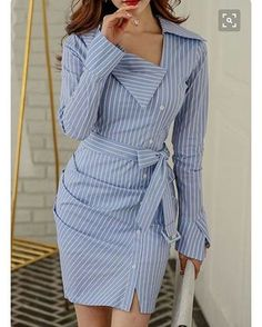 e54eb5594 Button Up Stirpe Print Long Sleeve Sheath Dress - Tap the link now to Learn  how I made it to 1 million in sales in 5 months with e-commerce!