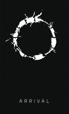 Minimal Poster, Black. A Chegada - Arrival (2016)  Designed by: Graziela Leite @getartofficial  #arrival #movie #adobeillustrator