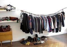 kledingrek, kledingstang, diy, kledingkast, wardrobe