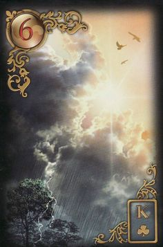 The Clouds, from the Gilded Reverie Lenormand by Ciro Marchetti. https://lifeofhimm.wordpress.com/2015/04/03/the-lenormand-checks-into-general-hospital/