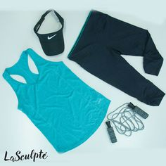 Do we have the perfect workout gear for you! Jazz up your gym attire with LaSculpte active wear. Our secret is the shaping active wear that flatten's your tummy and slims your waist. The tights even have a secret pocket!