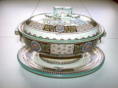 Beautiful Antique Wedgwood England Soup Tureen With Underplate #Wedgwood